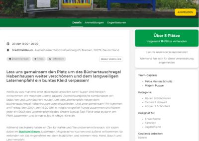Yarnbombing in Habenhausen oder Häkeln macht schön Serve the City Bremen